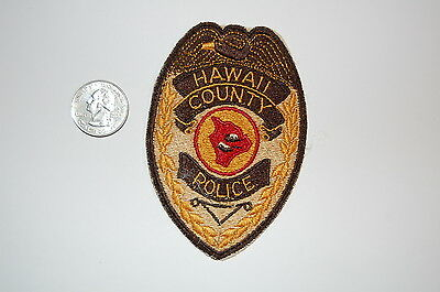 Vintage Hawaii County Police Patch