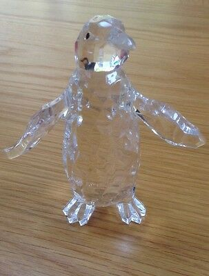 Penguin Ornament Plastic Crystal Effect 4 Inches High