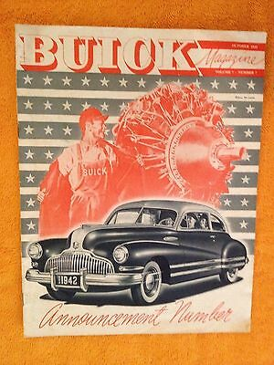 Buick Magazine October 1941 Announcement Number 1942 Models