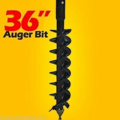 "36"" Skid Steer Auger Bit,Fits all 2.5"" Round Drive Augers,11 Teeth,4' L,In Stock"