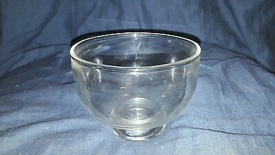 Small Antique Clear Glass Hand Made Pontilled Bowl. From Tea Caddy?