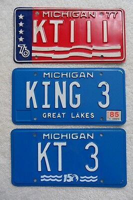 Michigan (Group Of 3) Personalized License Plates – Look!