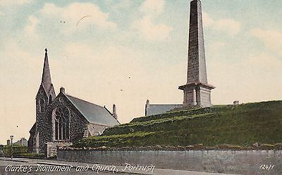 c northern ireland postcard irish antrim portrush church and clarke s monum