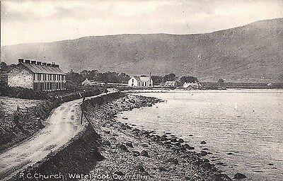 c northern ireland postcard ulster irish antrim r c church waterfoot