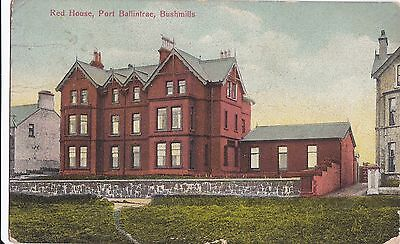 c northern ireland postcard ulster irish antrim the red house bushmills