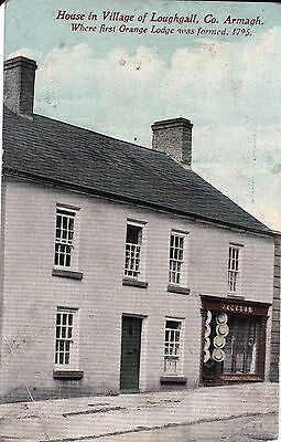 c northern ireland postcard ulster irish armagh 1st orange lodge loughgall