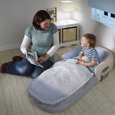 Sleepytime Owl My First Readybed Kids 18 Months + Air Filled Comfort Mattress