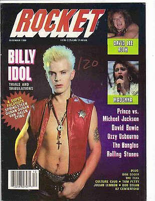 Rocket 1986 December Billy Idol Cover..bowie..ozzy