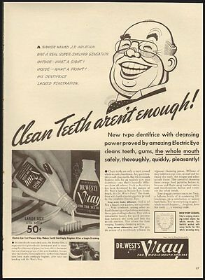 1941 Vintage Ad for Dr. West's Vray for whole mouth Hygiene  (112211)