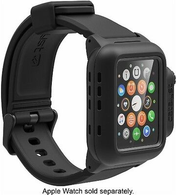 GENTLY USED Catalyst 47131BBR Waterproof Case and Band Apple Watch 42mm - Black