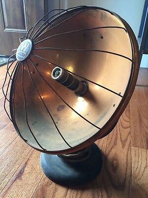 Westinghouse Electric Cozy Glow Ceramic Polished Copper Space Heater Vtg Antique