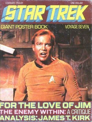 Star Trek #7 Giant Poster Book 1977 William Shatner