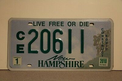 2010 New Hampshire NH Construction Equipment License Plate 20611 - NICE FIND