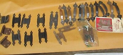 Lot of Vintage/NOS  Cabinet Door Drawer Pulls Off Set Hinges