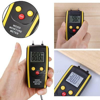 Digital LCD Moisture Meter Humidity Timber Wood Plaster Brick Screed Damp Tester