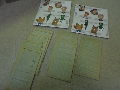 Vintage Nabisco Shredded Wheat Finger Puppets, Instructions and Scripts