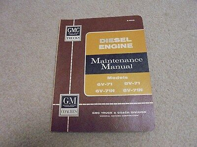Vintage 1963 GM and GMC Diesel Engine Maintenance Manual