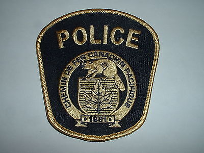 Canadian Pacific (type 5, FRENCH) Railway Police CLOTH SHOULDER PATCH Canada