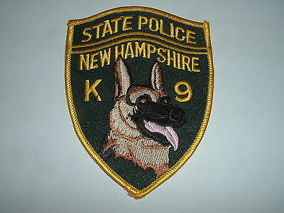New Hampshire State Police K9 Police CLOTH SHOULDER PATCH USA
