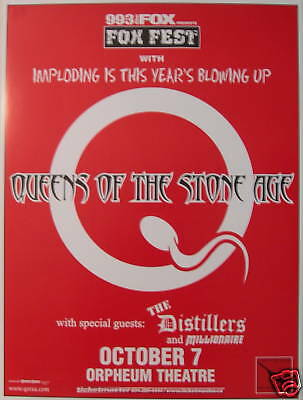 Queens Of The Stone Age Concert Tour Poster 2003