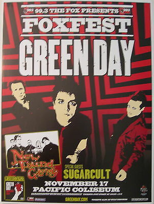 Green Day Concert Tour Poster 2004 American Idiot