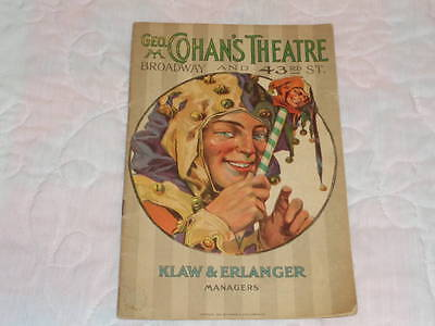 """1918 """"The King"""" Leo Ditrichstein George M. Cohan Theatre Broadway NYC Program"""