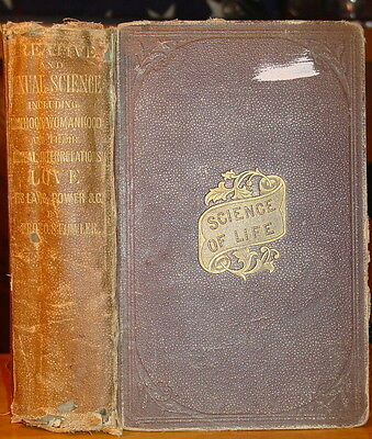 PHRENOLOGY CREATIVE & SEXUAL SCIENCE OS Fowler 1875 Ilst QUACK Medicine Diseases