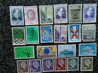 Collection/mixture Of Turkey Stamps