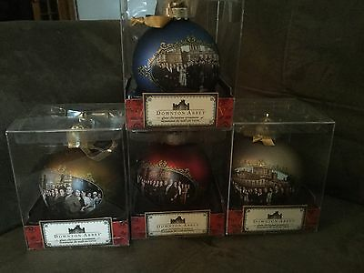 Downtown Abbey collector ornaments glass spheres set of 4