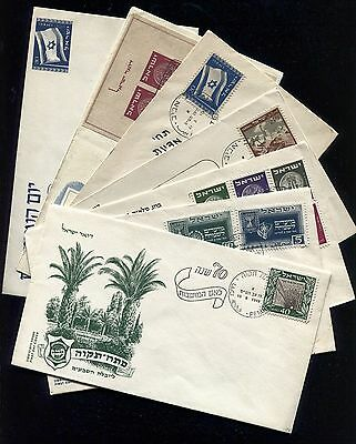 Israel 1949 Complete Year FDC First Day Cover Set