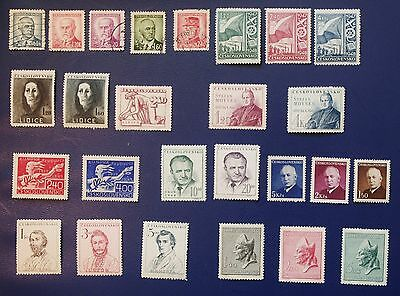 CZECHOSLOVAKIA - 1945-1948 Collection of Used and MH Stamps