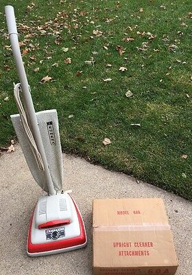 Vintage Eureka Upright Vacuum EXCELLENT It's VERY VERY CLEAN NOS Attachments!