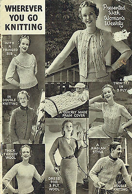 Vintage 1950's ~ Women's Weekly, 'Wherever You Go' Knitting Patterns ~