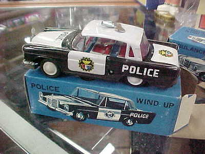 Made In Korea,,,,,,wind-Up Police Car
