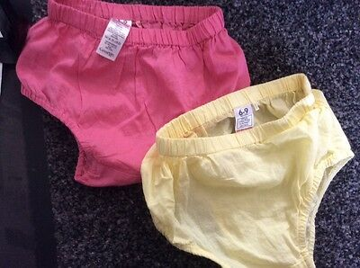 TWO PAIRS OF BABY GIRLS PANTS SIZE 6/9 mths