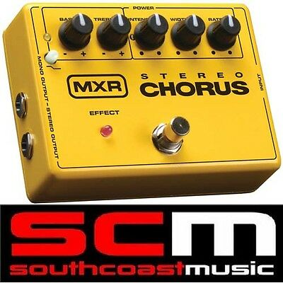 M134 Mxr Stereo Chorus Electric Guitar Fx Effects Pedal Brand New