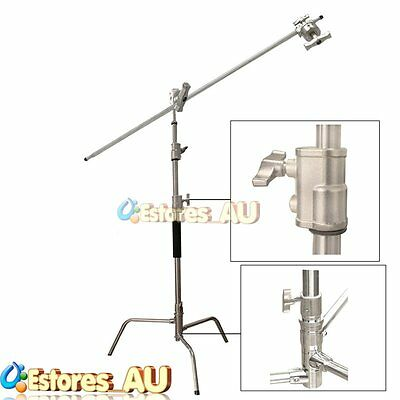【AU】GMC-200 Photo Studio Flash Heavy Duty C Stand Lighting Stand &Boom Arm 200cm