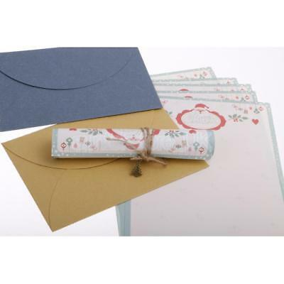 Christmas Letter Paper Envelope Sets Greeting Cards Message Writing Paper