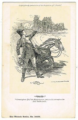 Early Wrench Postcard - Punch Highwayman & Free Trade & Politics Theme - Foiled