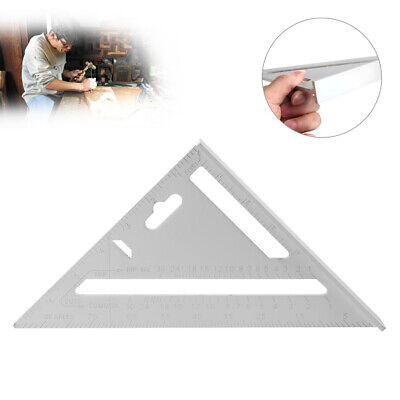 """7"""" Square Carpenter's Measuring Ruler Triangle Angle Protractor Layout Tool New"""