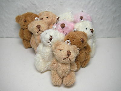 Teddy Bears x 10 small assorted SLIGHT SECONDS, DOLLS HOUSE MINIATURES (F219)