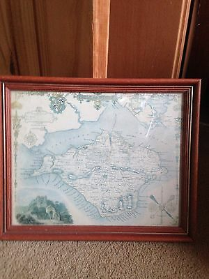 Small Framed Map Of the Isle Of Wright