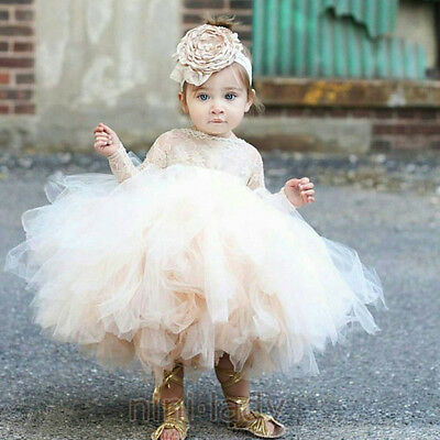 Flower Girl Dress Princess Baby Tutu  Kid Party Pageant Wedding Bridesmaid Gown