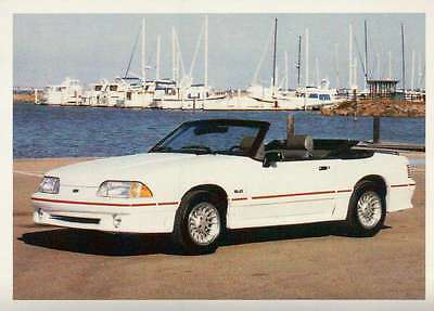 Ford Mustang GT 1989, Dream Cars Trading Card, Automobile --- Not Postcard