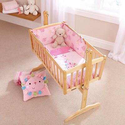 Clair de Lune Lottie & Squeek 2 Piece Crib Quilt & Bumper Bedding Set, Pink
