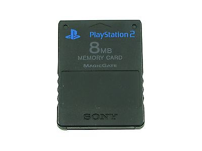 Carte Mémoire Sony Playstation 2 8 Mb Noire Officielle