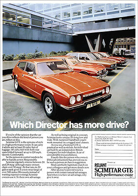 Reliant Scimitar Gte V6 Retro Poster A3 Print From Classic 70's Advert