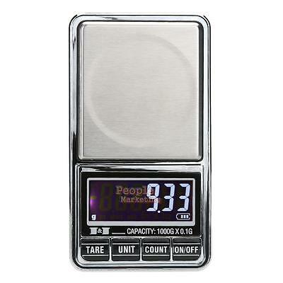LCD Digital Scale 1000g x 0.01g Jewelry Gold Weight Precise Gram Pocket Scale
