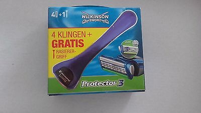 Lot Manche + 4 Lames Wilkinson Sword Protector 3 Neuves +
