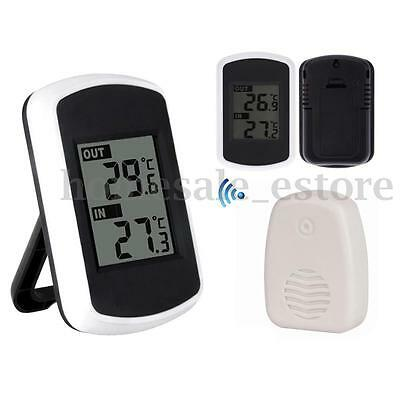 Wireless Ambient Weather Thermometer with Indoor and Outdoor Temperature Display